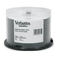 Verbatim CD-R 700MB/80min/52X - 50 Pack  DataLifePlus White InkJet Printable