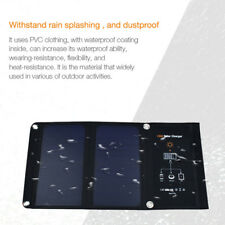 Dual USB 5V 2.5A Folding Solar Power Charger Panel Bag For Camping Waterproof