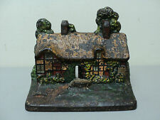 "M.A. Greenblatt Antique Cast Iron Doorstop ""Anne Hathaway'S Cottage"", c. 1927"
