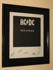 AC/DC - BACK IN BLACK - SIGNED AND FRAMED LITHOGRAPH PLUS PHOTO OF SIGNING!