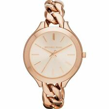 Michael Kors MK3223 Ladies Rose Gold Slim Runway Watch - 2 Year