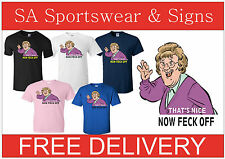ADULTS GILDAN HEAVY COTTON PRINTED MRS BROWNS BOYS FUN  T SHIRT  SIZES S - XXL