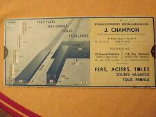 P8 OMARO ABAQUE 1936 fer profiles , lamines, fers plats, carrés,.. Champion