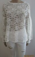 V by Very All Over Lace Long Sleeve Top SIZE 12