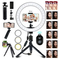 """Dimmable 10"""" LED Ring Light Tripod Stand Phone Selfie Camera Live Video Makeup"""