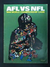 1968 Super Bowl II 2 Program Oakland Raiders vs Green Bay Packers AFL vs NFL (B)