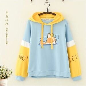 Kawaii Clothing Cute Ropa Hoodie Harajuku Sweatshirt Sudadera Doge Dog Sweater