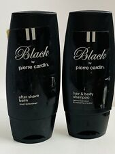 Black by PIERRE CARDIN After Shave BALM 3.4 oz  & Hair Body Shampoo