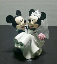 DISNEY PARKS WEDDING MINNIE & MICKEY MOUSE FIGURINE CERAMIC CAKE TOPPER VAIL