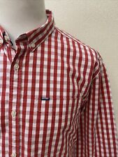 Superdry Men's Red Mix Bold Gingham Check Long Sleeve Cotton Casual Shirt - XXL