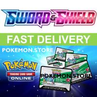 100 Sword & Shield Base Set Codes Pokemon TCG Online Booster PTCGO SWSH1 INGAME