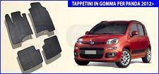 Tappeti Fiat Panda 2016 Set tappetini auto Specifici nero su misura in Gomma