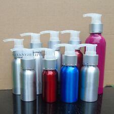 1 X Aluminum Lotion Pump Bottle Makeup Shampoo Shower Gel Container 30-500ML New