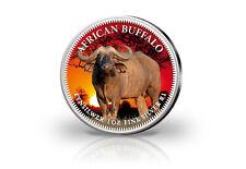 Krugerrand 1 Onza Moneda de Plata Sudáfrica Con Farbmotiv Búfalo