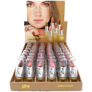 Saffron London Lipstick Nude Colours Job lot, Wholesale Bulk Buy Display