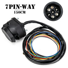 150CM RV Truck 7PIN-Way Trailer Socket Plug Cable Round Wiring Adapter Connector