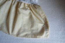 Laura Ashley Sofia Gold/White Filigree Mini Print Gathered Queen Bed Skirt