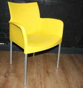 Italian armchair yellow Pedrali ICE 850 Archirivolto Design plastic & metal