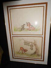 """Disney Original Lithographs Bambi Suites I thru V. Suite I """"Sleepy Bambi"""""""