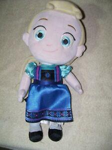 "Disney Store Frozen Anna Toddler Baby Plush 12"" Stuffed Doll Toy"