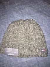 TOMMY HILFIGER Fleece Lined One Size Knit Beanie Hat, 1 Charcoal