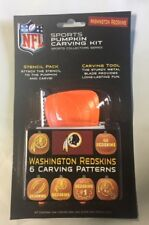 Washington Redskins Pumpkin Carving Kit Halloween Stencils for Jack-O-Lantern
