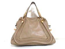 Authentic Chloe Light Brown Medium Paraty Leather Handbag w/ Shoulder Strap