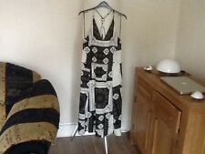 QUIRKY BLACK & IVORY BOHO CHIC SUNDRESS BY TOP SHOP SIZE 8 NWT RRP £39