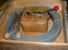 """1 CL 5/8""""  Galvanized Steel Strapping W/Tools-Seals 2000'+Oscillating Roll .020"""
