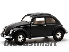 WELLY 18040W 1:18 1950 VW VOLKSWAGEN CLASSIC BEETLE DIECAST MODEL CAR BLACK NEW