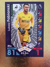 Match Attax Season 16/17 Swansea City #272 Lukasz Fabianski