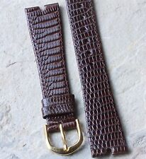 Brown T-bar lugs 18mm vintage watch strap Genuine Lizard made by Hirsch NOS