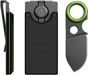 Gerber Gear GDC Money Clip with Built-in Fixed Blade Knife Black *NEW & SEALED*