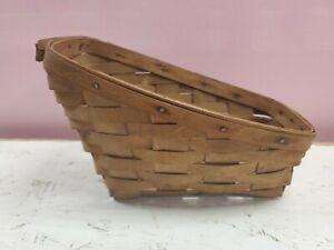 """Longaberger Basket 1984 Sleigh 7"""" Tall 9"""" Long (dd) (a424)"""