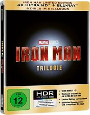 Marvel's Iron Man Trilogy 1-3 [4K UHD + Blu-ray][Steelbook][Region Free][Import]