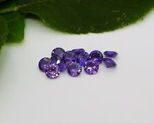 (4mm - 8mm) Round Purple Amethyst Cubic Zirconia (CZ) AAAAA Excellent Quality