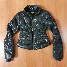 Bebe Duck Down Feather Fill Cropped Jacket (Womens,Ladies XS-XSmall) EUC Black