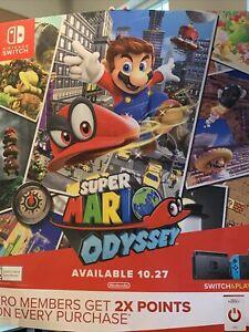 Super Mario Odyssey Gamestop Poster