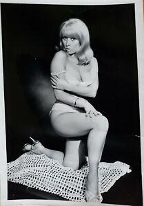 Vintage Silver Gelatin Photo Bettie Page Era Model Terri Martine Breast Nipples