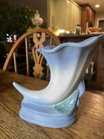 "Vintage Hull Pottery Calla Lily Cornucopia Vase Planter USA 8"" Authentic"