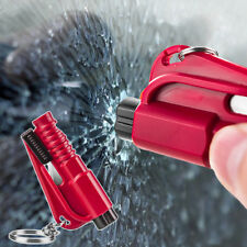 Emergency Car Safety Hammer Window Breaker Seat Belt Cutter Life Saving Key Ring