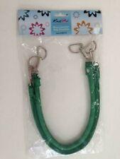 KnitPro 1 Paar Taschengriffe Kunstleder, mit Karabinerhaken, grün
