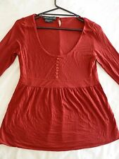 Laura Ashley L Wine Long Sleeved Top