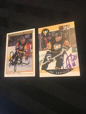 Lot Of 2 Pittsburg Penguins Autographs-Trottier & Caufield