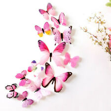 12 Pcs 3D Butterfly Wall Sticker PVC Decal Room Decoration Home Decoration Decor