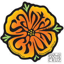 Santa Cruz Poppy Flower Sticker Vinyl Decal by Tim Ward