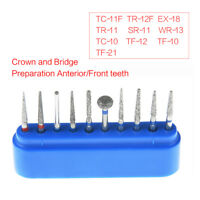 AZDENT Dental Diamond Burs FG-101 Crown and Bridge Preparation High Speed