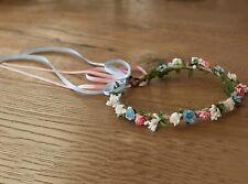 Teté bandeau Couronne de fleurs mariage hairband diamer.20 cm