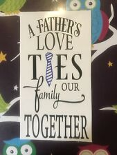 A Fathers Love Ties Our Family Together  Wine Bottle Vinyl  Decal Fathers Day