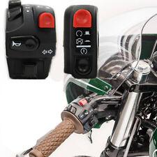 22mm Motorrad Lenker Schalter Set Hupe Blinker Zünd Startschalter 2x Universal